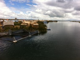 reed islands, Uros Islands, Lake Titicaca, Peru.