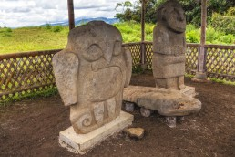Aguila, the Eagle, a symbol of wisdom. San Agustin Archeological Park, Colombia.