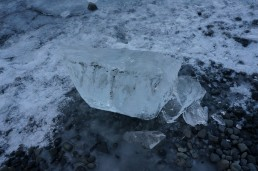 Block of ice, Jökulsarlon glacier lagoon, Iceland