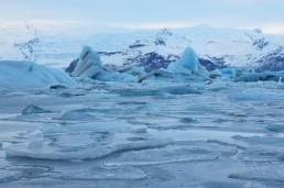 Surreal Jökulsarlón glacier lagoon.