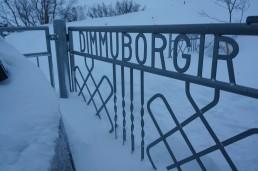 The gate to Dimmuborgir in Iceland