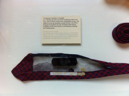 A tie including spying equipment, Stasi museum, Berlin
