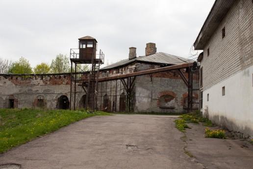 Prison yards, watch tower, Patarei prison, Tallinn