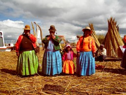 floating Uros Island, Lake Titicaca, Peru