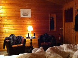 A room at Vogafjos guesthouse and farm in Iceland