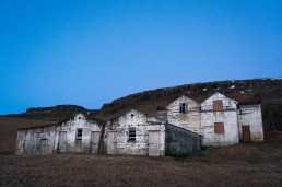 Abandoned farm houses somewhere in Iceland
