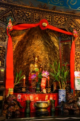 The altar of the Buddha at the former opium den, now Li Po Cocktail Bar, San Francisco