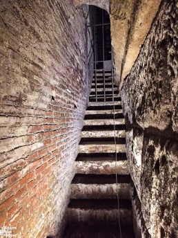 Ancient stairs in the Basilica San Clemente, Rome, Italy