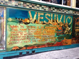 Follow the footprints of the Beat generation to the popular Beatnik hangouts like Vesuvio Cafe in North Beach of San Francisco