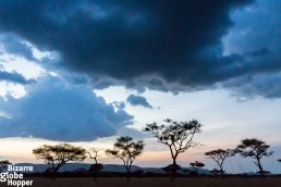 Beatiful scenery before the rain in Serengeti National Park, Tanzania