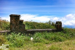 Behind the Bokor Palace and Casino in Bokor Hill Station, Cambodia