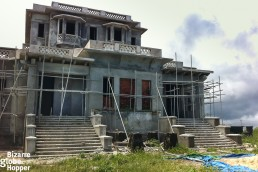 The Bokor Palace under renovation in Bokor Hill Station, Cambodia