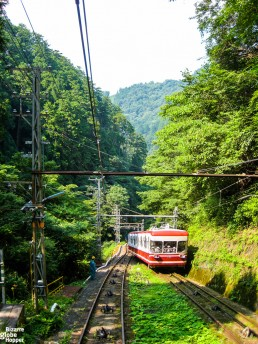 The cable car to Mount Koya, Koyasan, Japan