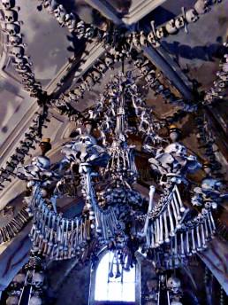 chandelier of bones, Kutna Hora, Czech Republic, bone church