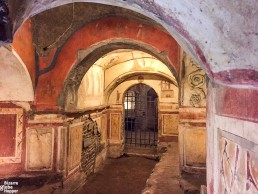 A chapel inside of the Catacomb of Priscilla.
