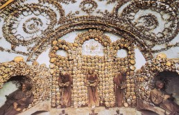 Crypt of the Three Skeletons in the Capuchin Crypt, Rome, Italy.