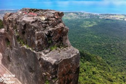 The vertical drop behind the old Casino, Bokor Palace, in Bokor Hill Station, Cambodia