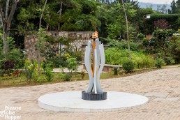 Eternal flame outside the Genocide Memorial Center in Kigali, Rwanda