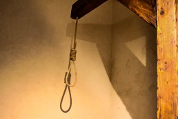 Gallows Pole hanging in the torture equipment exhibition in Toledo, Spain