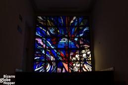 Glass inside the Genocide Memorial Center in Kigali, Rwanda