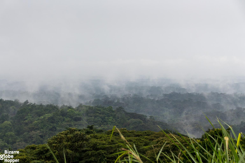 Hanging mists in Queen Elizabeth National Park in Uganda