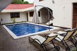nner yard yard pool of Hotel Flor de Sarta in León, Nicaragua