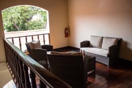 private terrace in Hotel Flor de Sarta in León, Nicaragua