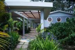 Guest house at Boutique hotel Montebrisa with Art Deco windows in Matagalpa, Nicaragua