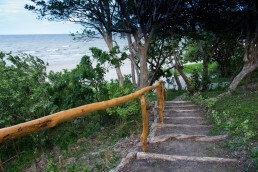 Stairs to the beach of Hotel Xalli in Isla Ometepe, Nicaragua