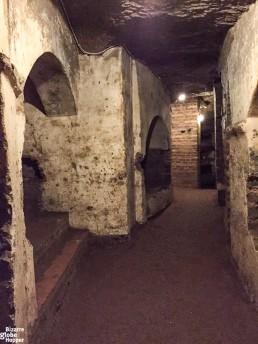 In the Catacomb of Priscilla, Rome, Italy