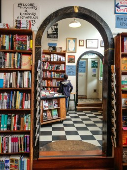 Inside the iconic City Lights Bookstore, San Francisco