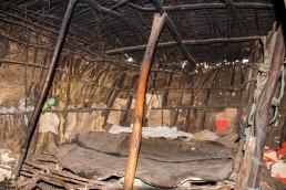 Inside a Maasai hut in Ngorongoro, Tanzania