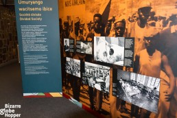 Information inside the exhibition at Genocide Memorial Center in Kigali, Rwanda