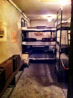 In the bunker of WWII Berliner Unterwelten Dark Worlds tour