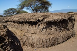 A Maasai hut in the Ngorongoro, Tanzania