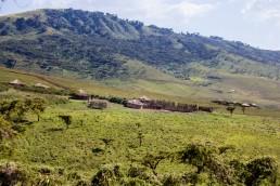 Maasai huts in the Ngorongoro Crater, Tanzania