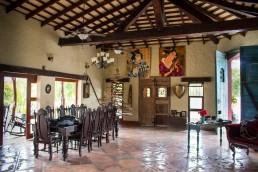 The main hall and dining room at Rancho Chilamate, Nicaragua