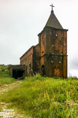 The old church in Bokor Hill Station, Cambodia
