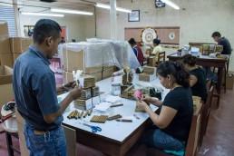packing cigars in GGi cigar factory esteli, nicaragua