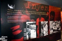 Pictures inside the exhibition at Genocide Memorial Center in Kigali, Rwanda