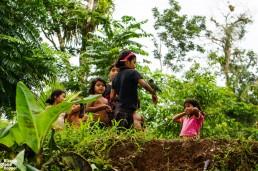 Some Rama children in Holy Land/Makenge, Indio Maíz, Nicaragua