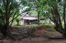 A Rama house via Rio Indio, in Indio Maíz, Nicaragua