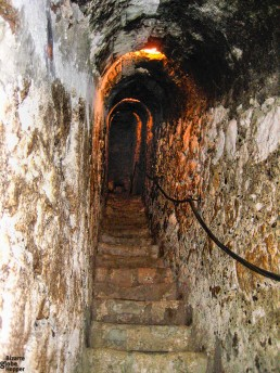 A secret passage in the Bran Castle, Romania