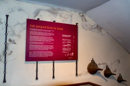 The Spanish Inquisition in the torture equipment exhibition in Toledo, Spain