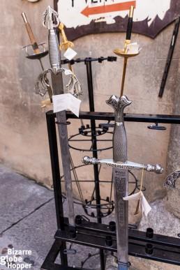Steel swords of Toledo, Spain