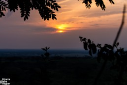 Sunset in Queen Elizabeth National Park, Uganda