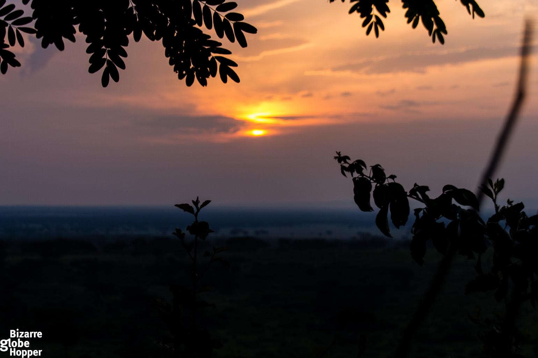 Sunset in Queen Elizabeth National Park, Uganda