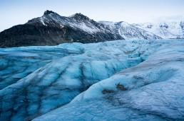 Svínafellsjökull glacier tongue, an outlet glacier of the mighty Vatnajökull in Iceland.
