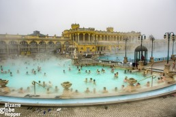 Széchenyi medicinal Spa in Budapest, Hungary