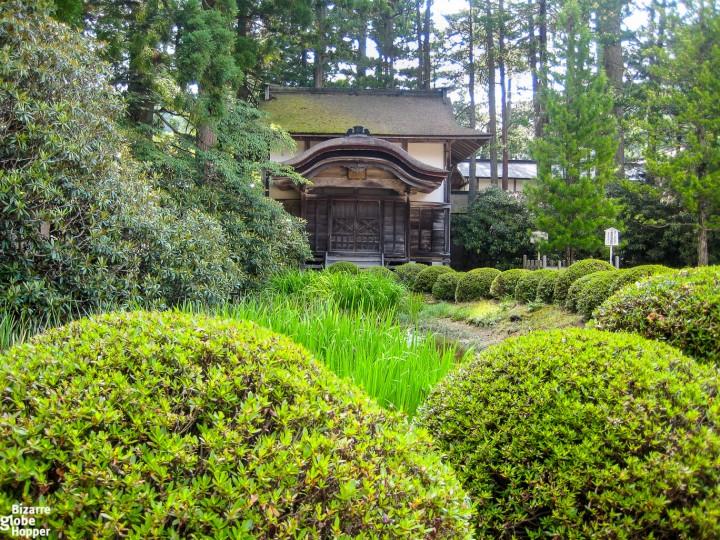 Temple garden in Koyasan, Japan